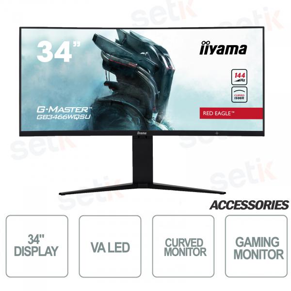 """Gebogener Monitor Red Eagle Gaming 34 """"WQSU G-Master - IIYAMA"""