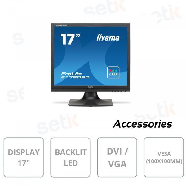 Monitor IIYAMA ProLite E1780SD-B1 17 pollici per sistemi di videosorveglianza