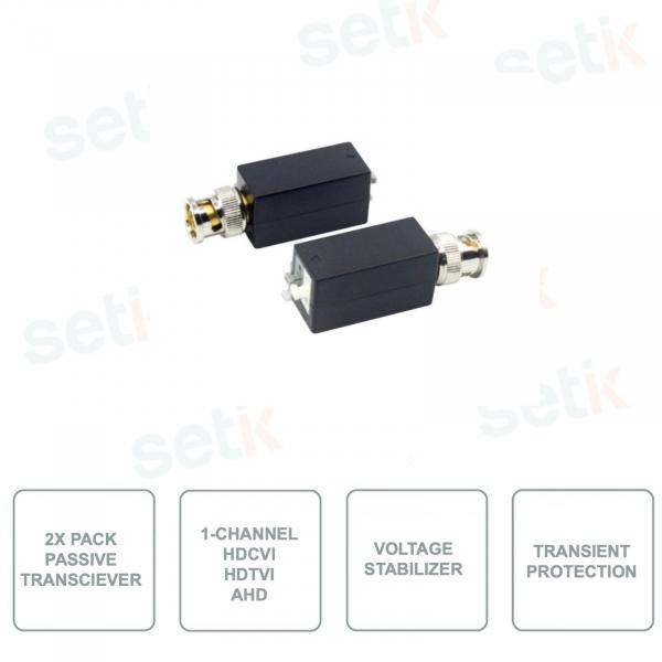 Pack of 2 HYUNDAI HYU-160 Passive Transmitters - 1 Video Channel - HDCVI - HDTVI - AHD