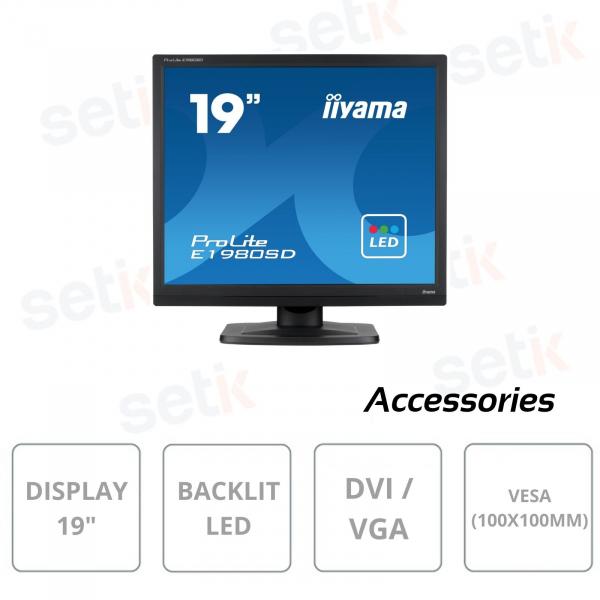Monitor IIYAMA ProLite E1980SD-B1 19 pollici retroilluminazione LED