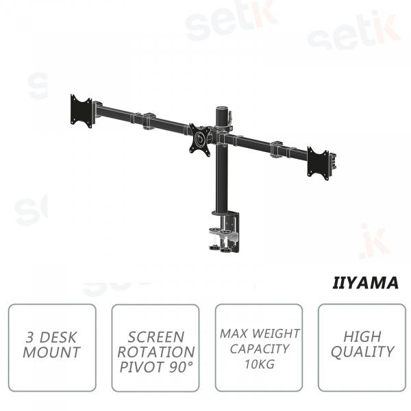 Table arm for three flat screens up to 27 '' - IIYAMA