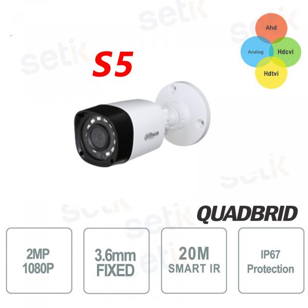 Telecamera da esterno Versione S5 HD CVI 2MP 4in1 3.6mm IR Dahua