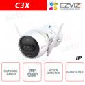 C3X Ezviz Telecamera IP da esterno WIFI 2MP Dual Lens 2.8mm DarkFighter AI IR Hikvision