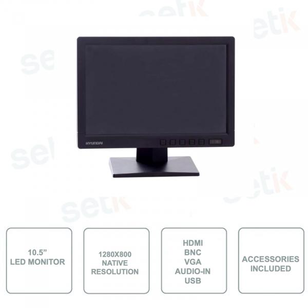 Monitor 10,5 Pollici Retroilluminazione LED - HYUNDAI HYU-273 - Risoluzione 1280x800p 16:10