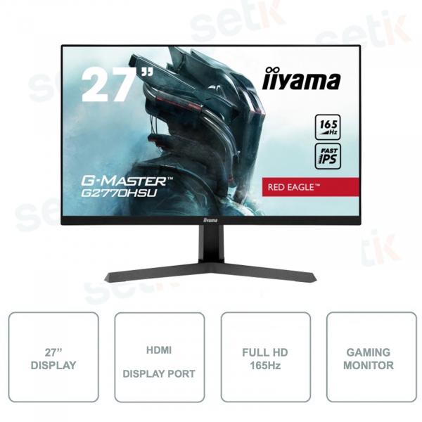MONITOR ideal for gaming IIYAMA G2770HSU-B1 - Fast IPS - 27 Inch - FullHD -