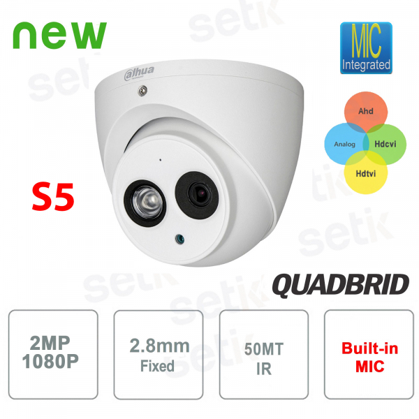 HD video surveillance camera cvi 1080p 4in1 2 mp 2.8 mm 50m audio