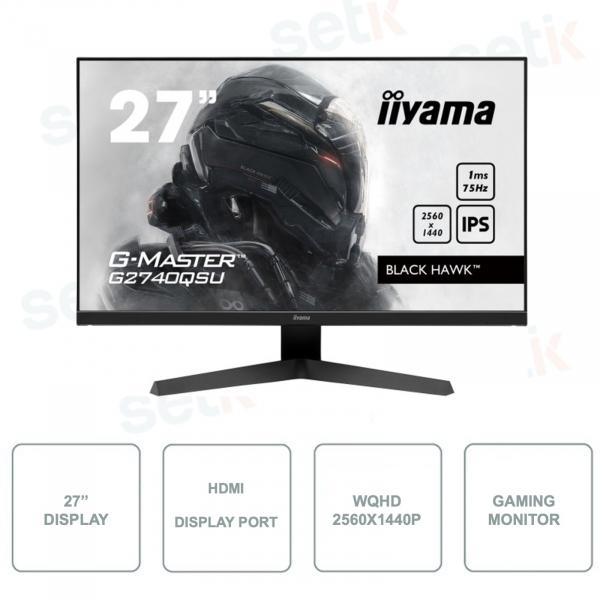 G-MASTER G2740QSU-B1 IIYAMA - Monitor per Gaming - 27 Pollici - 1ms - 2560x1440p - IPS LED Panel 75Hz