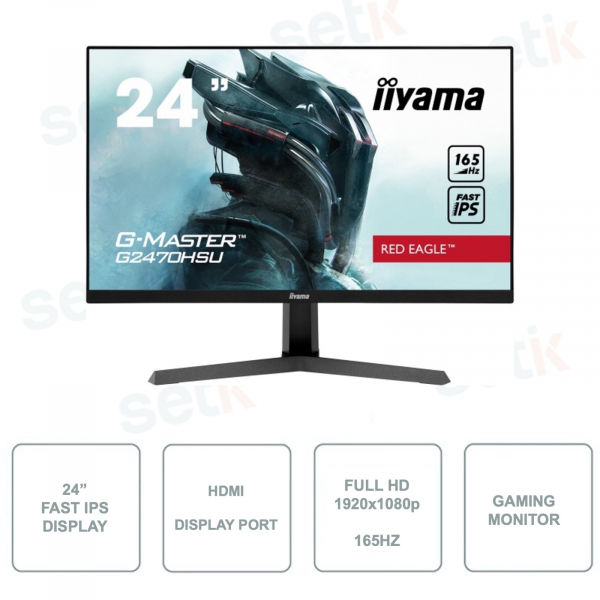Monitor per il Gaming IIYAMA G2470HSU-B1 - FullHD 1080p  - Fast IPS - FreeSync - 8ms - 165hz
