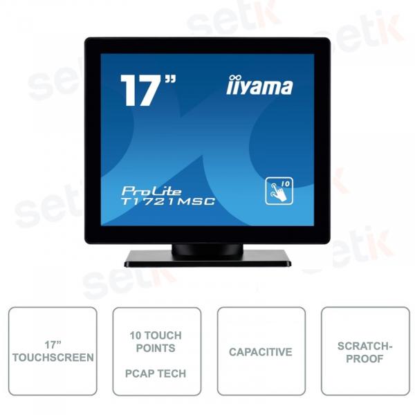 Prolite T1721MSC-B1 - IIYAMA - 17 Inch Touchscreen Monitor - TN LED - PCAP Technology - Anti-scratch - 10 Touch Points