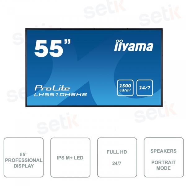 Monitor IIYAMA -  LH5510HSHB-B1 - 55 Pollici -  IPS M+ LED - FullHD - Per uso 24/7 - Leggibile alla luce del Sole