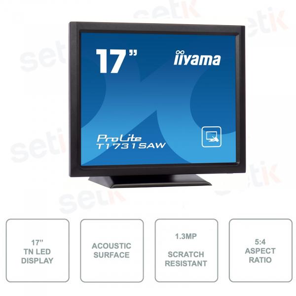 IIYAMA - T1731SAW-B5 - Monitor da 17 Pollici - SAW Surface Acoustic Wave - TN LED - 5:4 - IP54 - Touchscreen