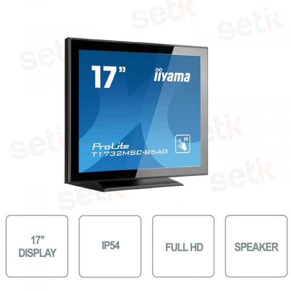 FULL HD 17 INCH MONITOR 5MS SPEAKERS TOUCHSCREEN IP AG