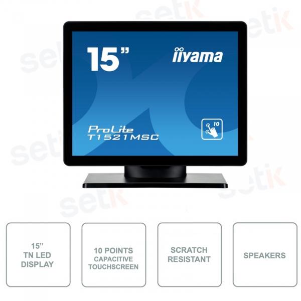 T1521MSC-B1 - Monitor IIYAMA 15 Pollici - Touchscreen a 10 Punti - TN LED - Con Speakers