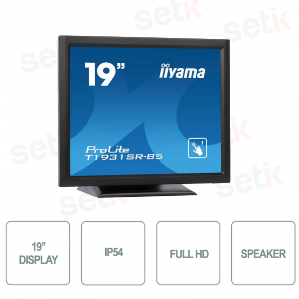 Full HD 19 Inch 5MS Speakers Touchscreen Monitor