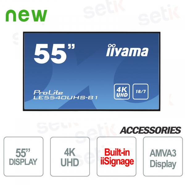 "Monitor Prolite 55"" UHD 4K Display AMVA3 LED Professionale IIYAMA"