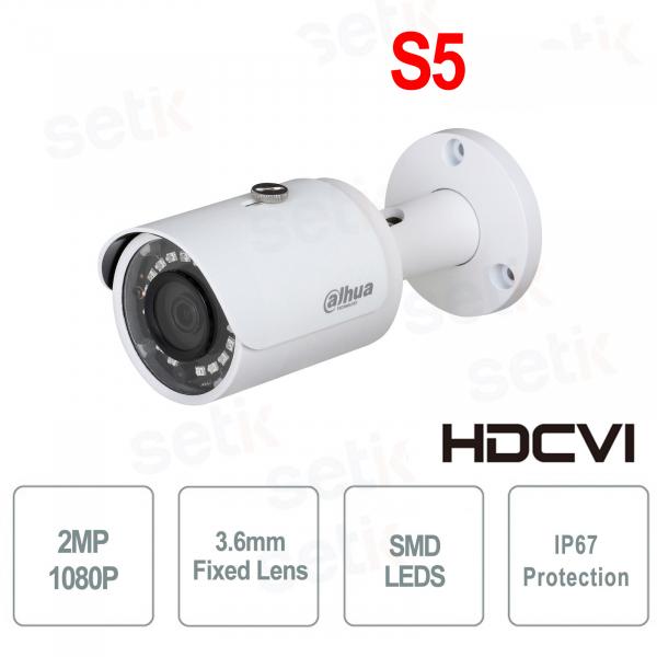 HDCVI Bullet 2MP Full HD 3.6mm IP67 SMD Camera - S5 - Dahua