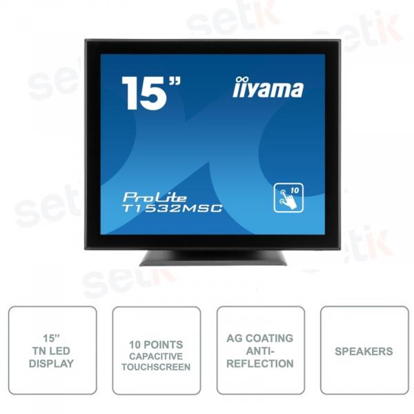 T1532MSC-B5AG - IIYAMA - 15 Inch Monitor - TN LED - Touchscreen -AG Coated Glass anti-glare - Capacitive