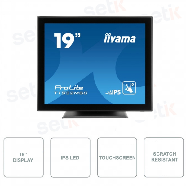 T1932MSC-B5X - IIYAMA - 19 Inch Monitor - Touchscreen - 10 Points - Scratch Resistant - Stereo Speakers