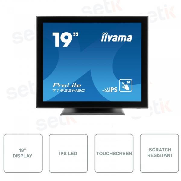 T1932MSC-B5X - IIYAMA - Monitor 19 Pollici - Touchscreen - 10 punti - Resistente ai graffi - Stereo Speakers