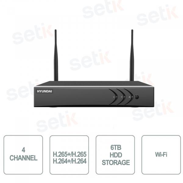 NVR 4 Channels WIFI IP 4mp Hyundai