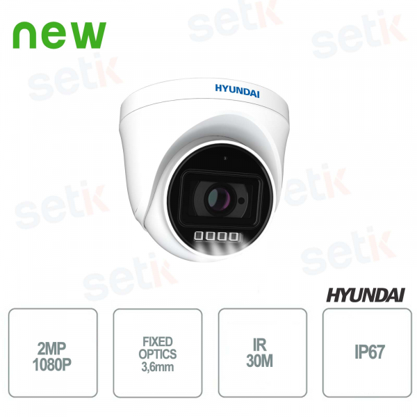 Hyundai DOME FIXED IP 2MP IR 30M outdoor camera