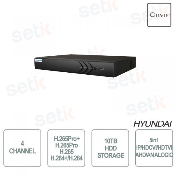 ZVR 5IN1 4 CANALI + 1IP ONVIF 1HDD HYUNDAI