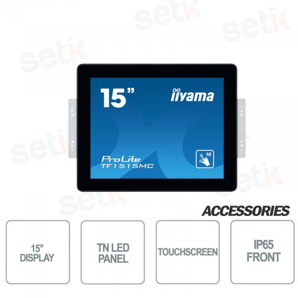 Monitor touchscreen IIYAMA ProLite 15'' tecnologia PCAP
