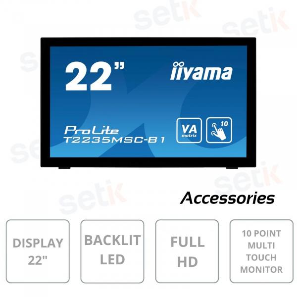 PROLITE 22 INCH LED FULL HD TOUCHSCREEN SCREEN - T2235MSC-B1 - IIYAMA