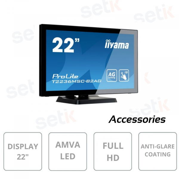 Prolite 22 Inch Full HD Touchscreen AMVA Led Monitor - IIYAMA