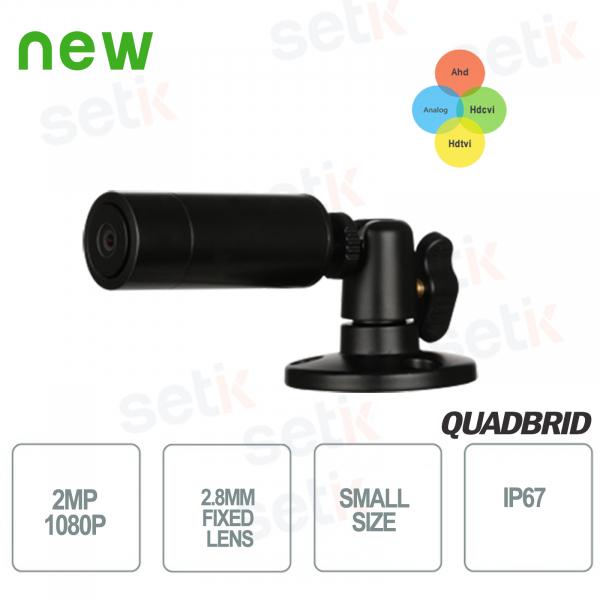 Mini telecamera da esterno HD CVI 2MP 4in1 2.8mm IP67 - Dahua