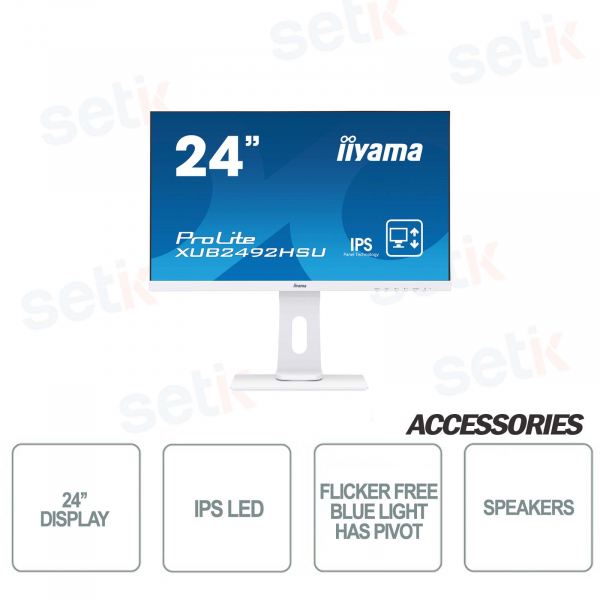 Monitor IIYAMA ProLite 24'' IPS LED - Speakers - HAS-PIVOT