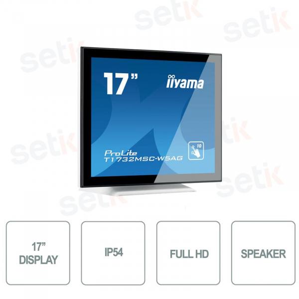 Full HD 17 Inch 5ms Monitor IIYAMA Touchscreen Speaker