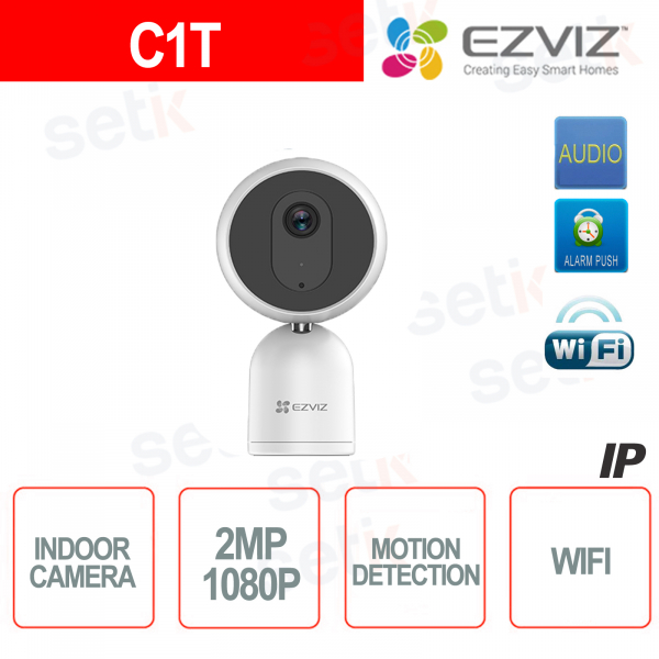 C1T Ezviz Indoor IP Camera WIFI 2MP Hikvision IR Audio