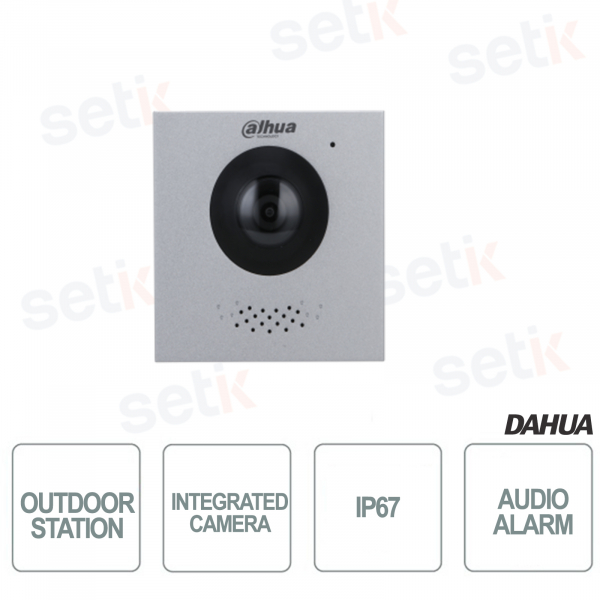 Outdoor Station with 2Mp 160 ° Camera - Vandalproof - Dahua