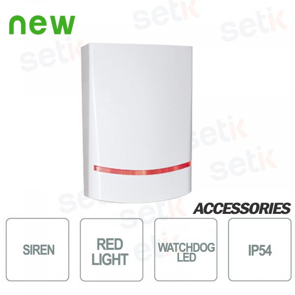 Sirena AMC da esterno Potenza sonora di 100dB - LED Rosso - AMC