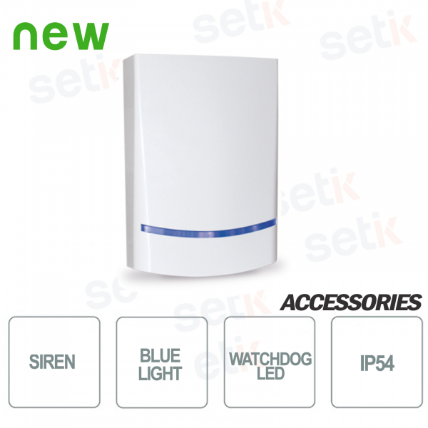 AMC outdoor siren Sound power of 100dB - Blue LED - AMC