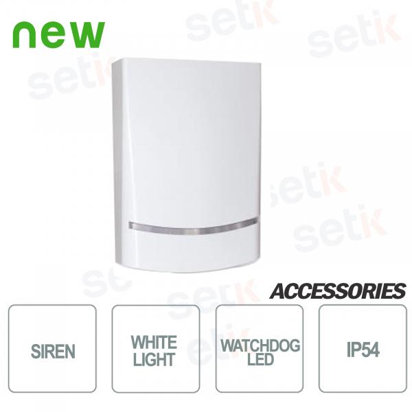 Sirena AMC da esterno Potenza sonora di 100dB - LED Bianco - AMC