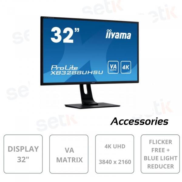Monitor Prolite 32 Pollici VA Matrix 4K HDMI Blue Light Freesync VESA - IIYAMA