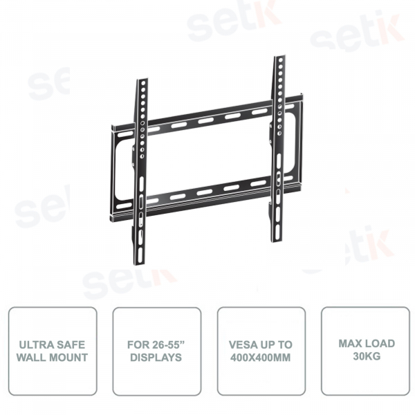 WM1044-B1 - Mounting bracket for screens from 26 to 55 Inch - Ultra Secure - Maximum load 30Kg
