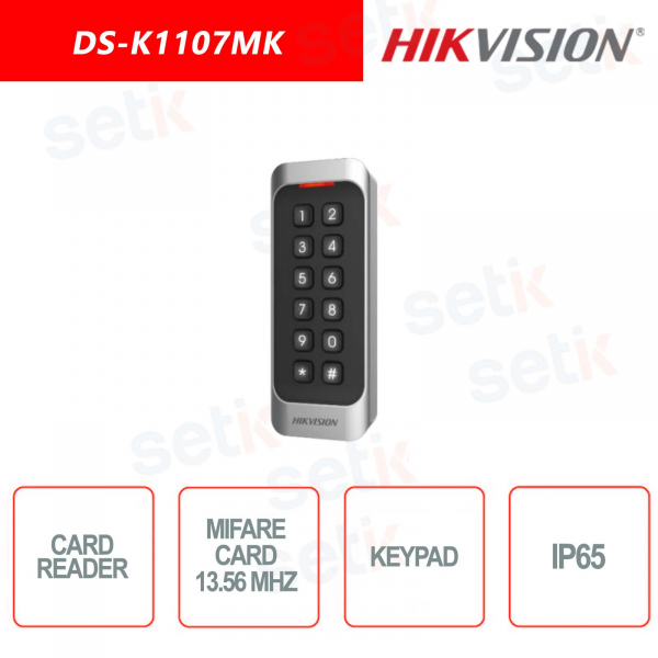 Mifare card reader with Hikvision Keypad