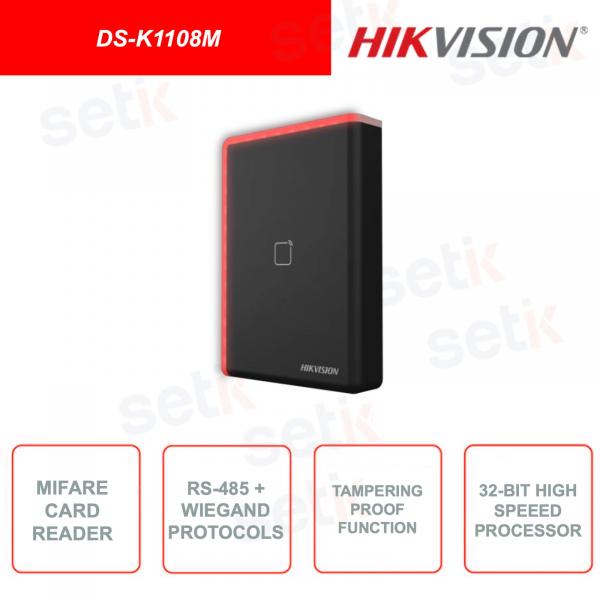 DS-K1108M - Hikvision - Modulo di Espansione - Lettore per schede 13.56Mhz - RS485 - Wiegand