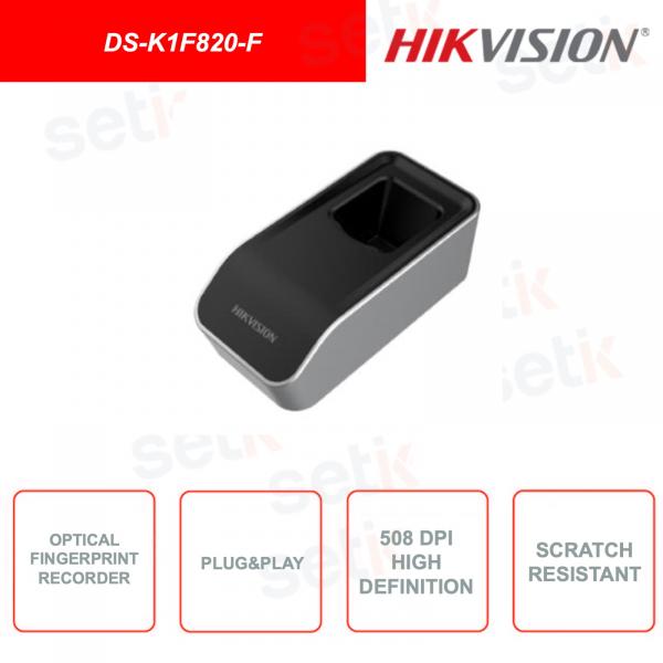 DS-K1F820-F - HIKVISION - Module for fingerprint reading - Scratch resistant - 508dpi HD - Plug & Play