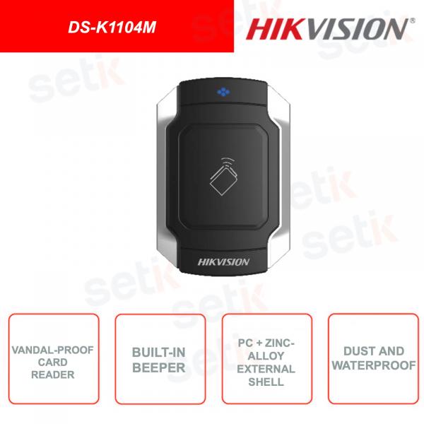 DS-K1104M - HIKVISION - External expansion module - MIFARE card reader - IK10 Vandal-Proof