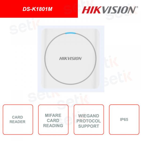 DS-K1801M - Hikvision - Modulo di espansione - Lettore schede Mifare - IP65 - Watchdog Design