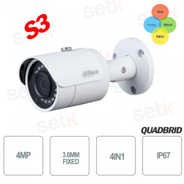 Telecamera Dahua HD CVI 4in1 4MP 3.6mm IR 30M