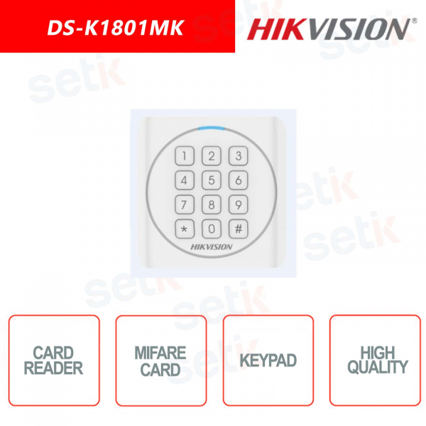 Mifare Hikvision card reader with Keypad