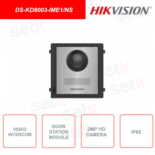 DS-KD8003-IME1 / NS - Outdoor station - 2MP HD Fisheye Camera - IP65 - Call button