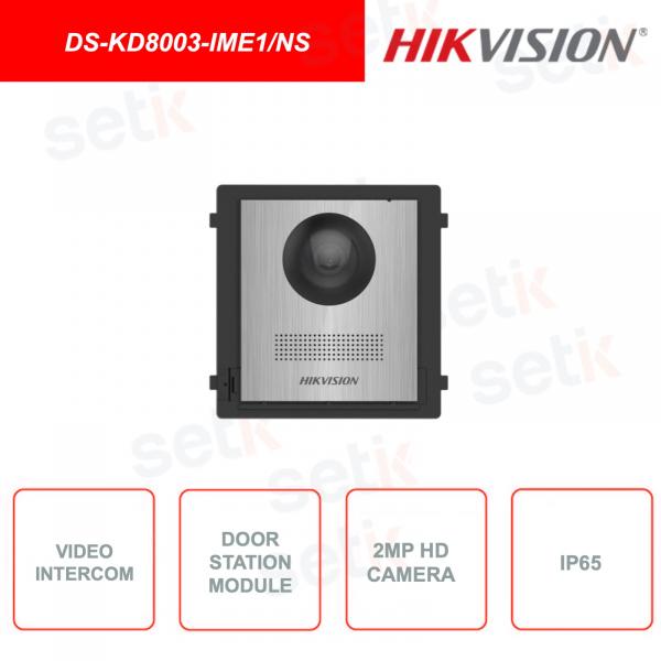 DS-KD8003-IME1/NS -  Postazione esterna - 2MP HD Fisheye Camera - IP65 - Pulsante chiamata