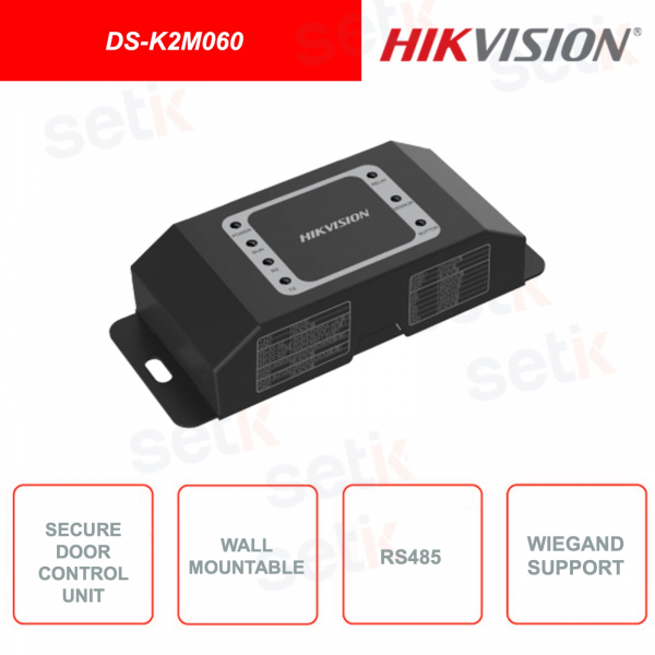 DS-K2M060 - Hikvision - Safe door control unit - Communication with RS485 and Wiegand terminals