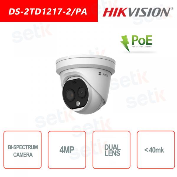 Thermal and Optical Bi-Spectrum Hikvision Camera - 4MP